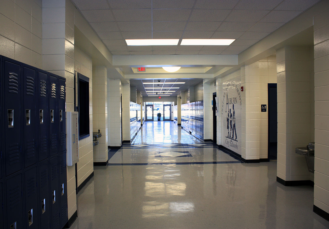 High School Hallway Background - 186.8KB