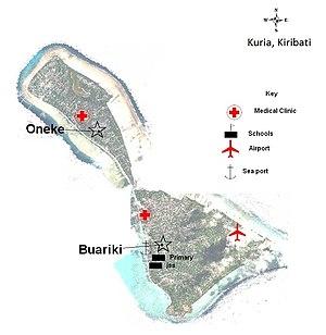 Kuria (islands) - Map of Kuria