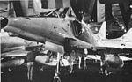 A-4E Skyhawks in hangar of USS FD Roosevelt (CVA-42) in October 1973.jpg