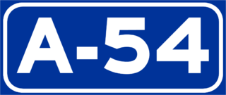 Autovía A-54 road in Spain