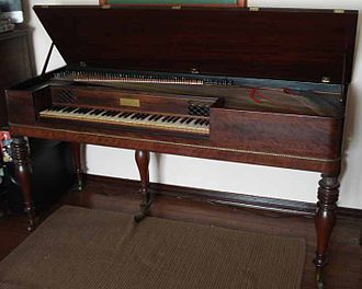 Alpheus Babcock - Early A. Babcock Piano Wooden Sound Board with Iron Strings