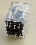 "A DPDT AC coil relay with ""ice cube"" packaging"