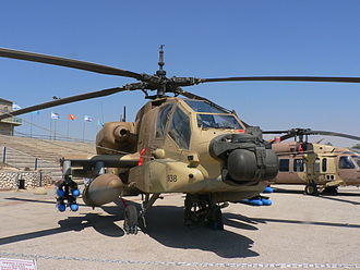 Targeted killings by Israel Defense Forces - The AH-64 Apache helicopter gunship, which is used to carry out many of the targeted killings, due to its ability to shoot guided munitions