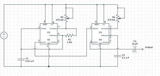 Atari Punk Console - Circuit diagram of an implementation of Atari Punk Console