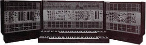 Analog synthesizer -  The ARP 2500 with expansion cabinets.