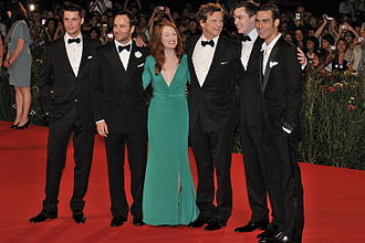 Tom Ford - Ford at the 66th Venice Film Festival, with A Single Man's Julianne Moore and Colin Firth, 2009