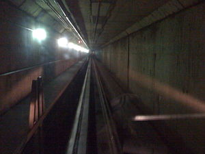 The Plane Train - The interior of the system's tunnel