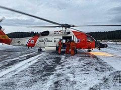 A Coast Guard Air Station Kodiak MH-60 Jayhawk helicopter.jpg