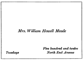 Visiting card wikipedia sample ladys visiting card specifying an at home day reheart Choice Image