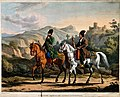 A Persian nobleman riding with his servant and smoking a hoo Wellcome V0019097.jpg