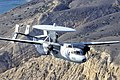 A U.S. Navy E-2C Hawkeye aircraft assigned to Airborne Early Warning Squadron (VAW) 117 flies over the California coast near Ventura, Calif. 121120-N-HX866-006.jpg