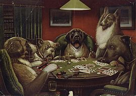 dog poker pictures for sale