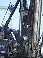 A big one meter wide drill excavates dirt for a builing pile, 2015 09 23 (2).JPG - panoramio.jpg