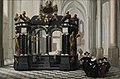 A family beside the Tomb of Prince William i in the Nieuwe Kerk, Delft, by Dirck van Delen.jpg