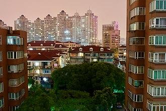 Hongkou District - A look at the Bao Steel Building in Hongkou