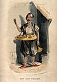 A man is selling sweets from the tray around his neck. Colou Wellcome V0039653.jpg