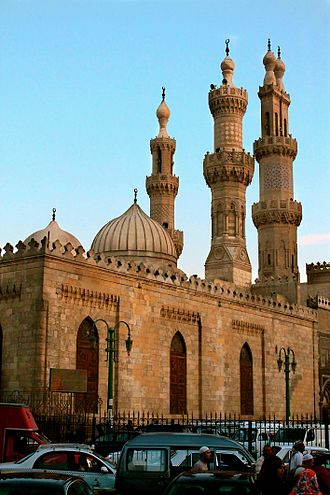 Fatimid Caliphate - The Al-Azhar Mosque, of medieval Islamic Cairo.