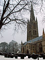 A view of St Wulfram's Church from Castlegate, Grantham, Lincolnshire - Dec 2005 (2).JPG