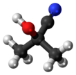 Ball and stick model of acetone cyanohydrin