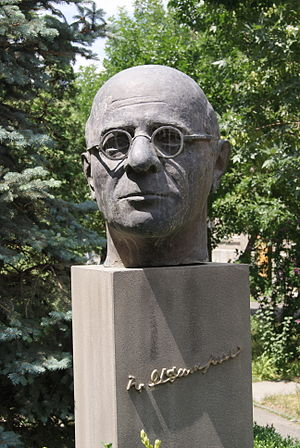Hrachia Adjarian - Adjarian's bust in Yerevan