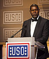 Actor Dennis Yaysbert speaks during the 2013 USO Gala as the USO Master of Ceremonies in Washington, D.C., Oct. 25, 2013 131025-M-KS211-014.jpg