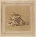 Adam von Bartsch, after a drawing formerly attributed to Albrecht Dürer - A Crouching Apostle (Saint Peter).jpg