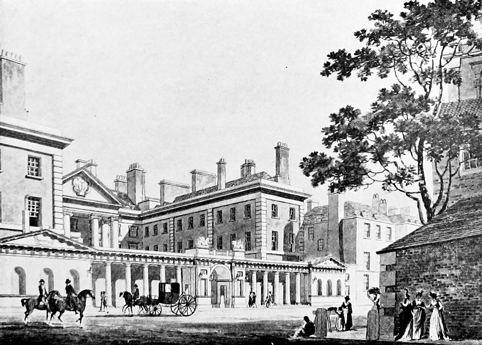 Admiralty building Whitehall 1790