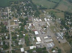 "Aerial picture of ""downtown"" Belle Center"