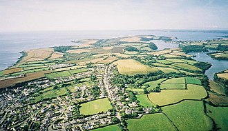 Roseland Peninsula - Aerial view of the peninsula