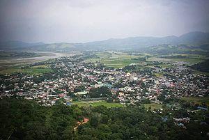 Bambang, Nueva Vizcaya - Aerial view of Bambang