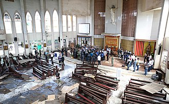 2019 Jolo Cathedral bombings - Image: Aftermath of the Jolo Cathedral bombings