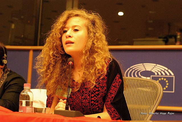 Ahed Tamimi at the role of women in the palestinian popular struggle conference