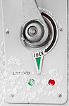 Aircraft door locking mechanism (4872703308).jpg