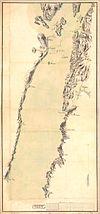 100px akershus amt nr 23  kart over omegnen af christianiafjorden mellom dr%c3%b8bach og widsteen%2c 1800