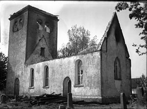 Ala Church - Image: Ala Church after the fire in 1938
