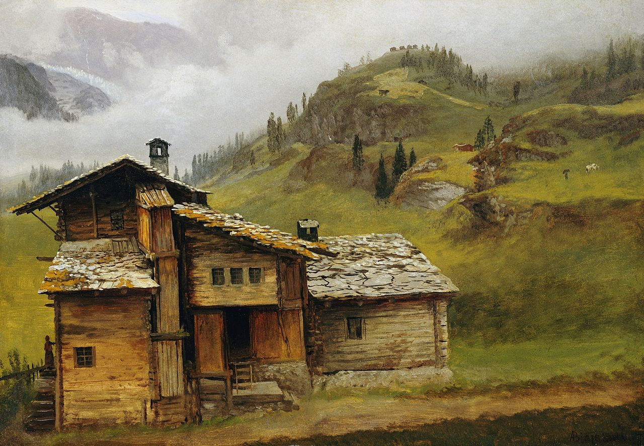File albert bierstadt mountain wikimedia commons for Mountain house media