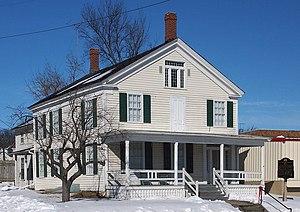 Alexander Faribault House - The Alexander Faribault House from the east