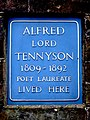 Alfred Lord Tennyson 1908-1892 Poet Laureate lived here.jpg
