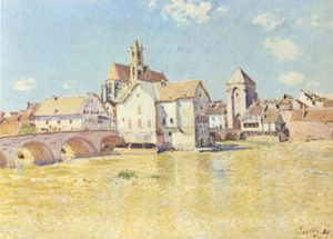 Moret-sur-Loing - Moret-sur-Loing, Alfred Sisley, 1888