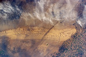 Algodones Dunes - The dunes from space