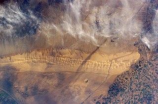 Algodones Dunes sand dune field located in southeastern California