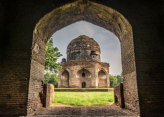 Tomb of Ali Mardan Khan - View of the tomb from the gateway