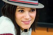 Alizée at an autograph-signing event in Poitiers in 2013.