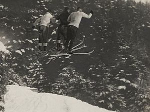 Outing club - Ski jumping at a Dartmouth Outing Club event circa 1920
