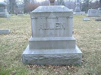 Alfred G. Allen - Image: Allen Headstone