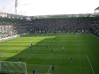 Allianz Stadion building in Hütteldorf, Austria