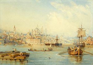 Istanbul - A painting of Ottoman era Istanbul by Thomas Allom