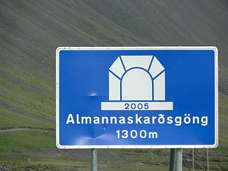 Höfn - Almannaskarðsgöng