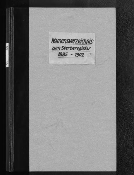File:Alphabetisches Namensverzeichnis zum Sterberegister des Standesamtes Minden, 1885 bis 1902.djvu
