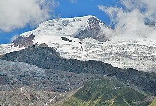 Alphubel Mountain in the Pennine Alps